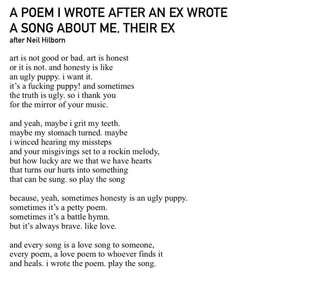 Kevin Kantor On Twitter 930 A Poem I Wrote After An Ex