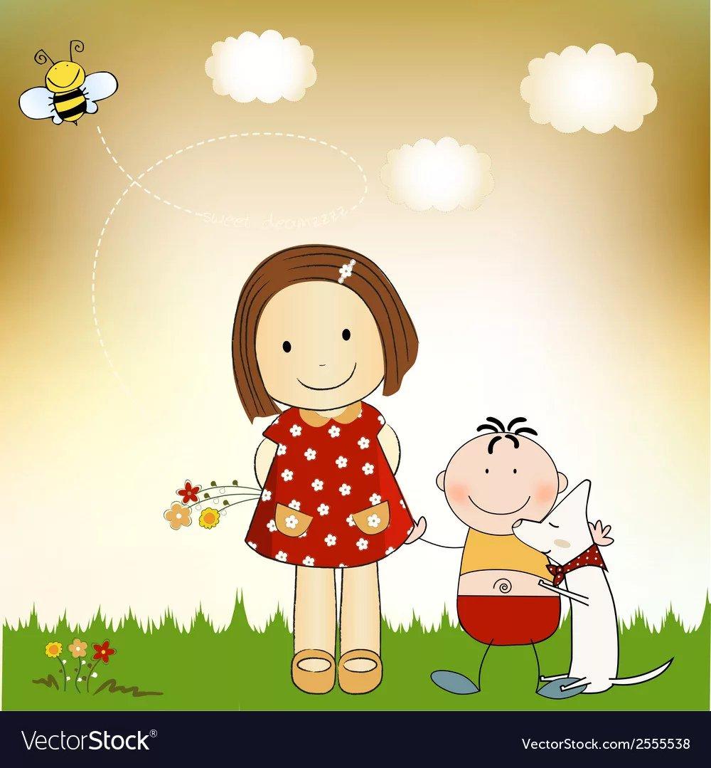 Летием день, открытка праздник братьев и сестер 10 апреля
