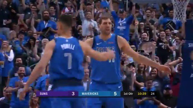 Dirk is EATING  First 10 points for the Mavs 🔥