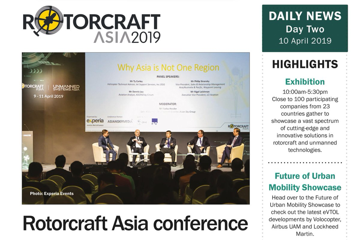 RT ShephardNews: Rotorcraft Asia & Unmanned Systems Asia 2019 Daily News - Day Two https://t.co/VDdBTjvqhh #RotorcraftAsia2019 #UMSAsia2019 #ShephardMedia https://t.co/StaRvMk8TK
