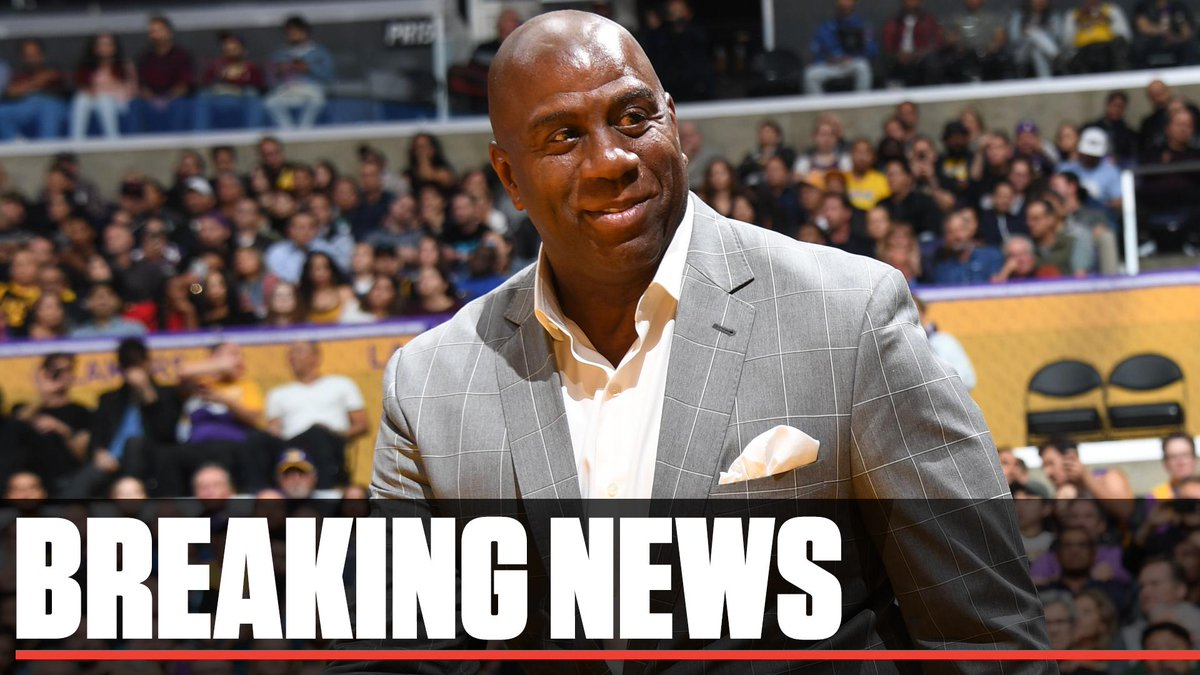 Breaking: Magic Johnson says he is stepping down as president of basketball operations for the Lakers.