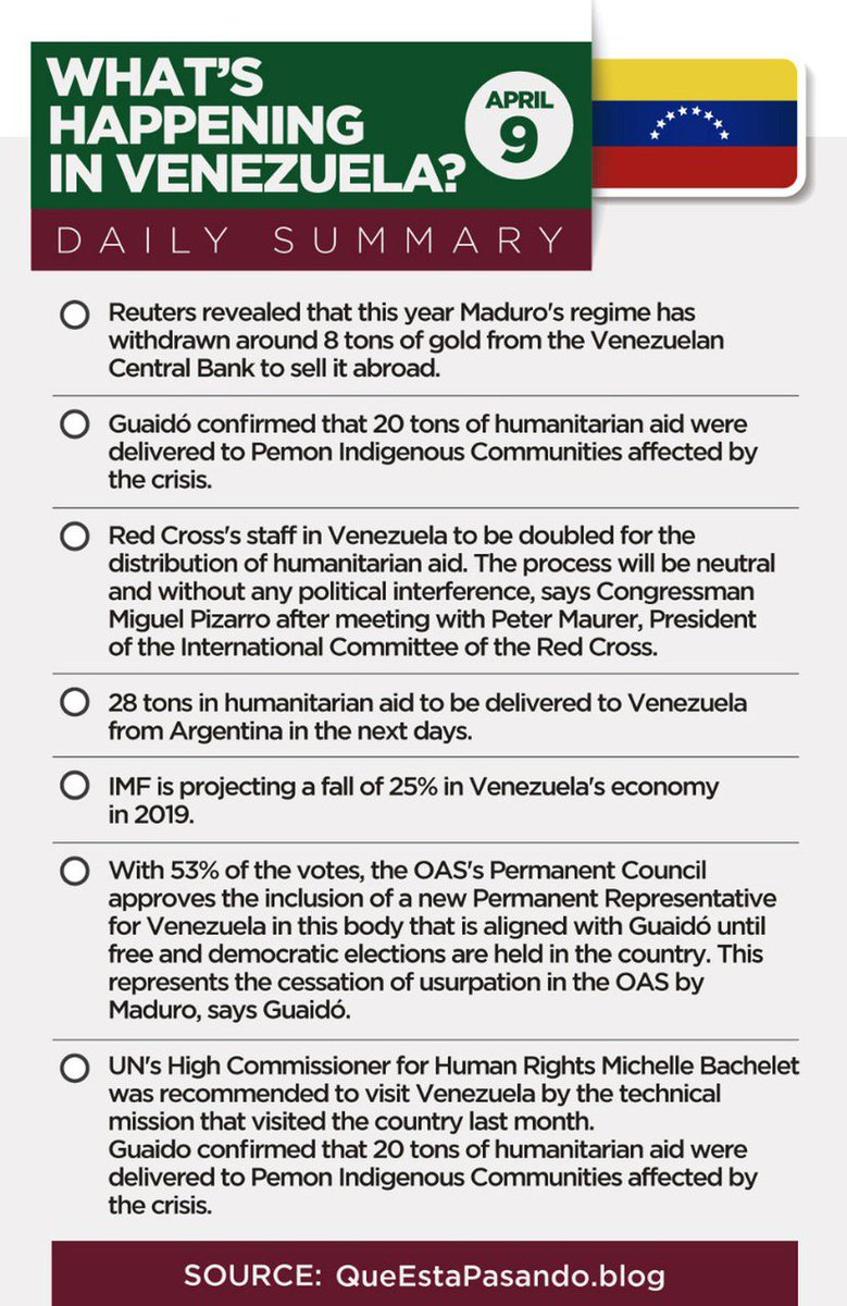 #OEAconVzla | These were the most important news in #Venezuela today.