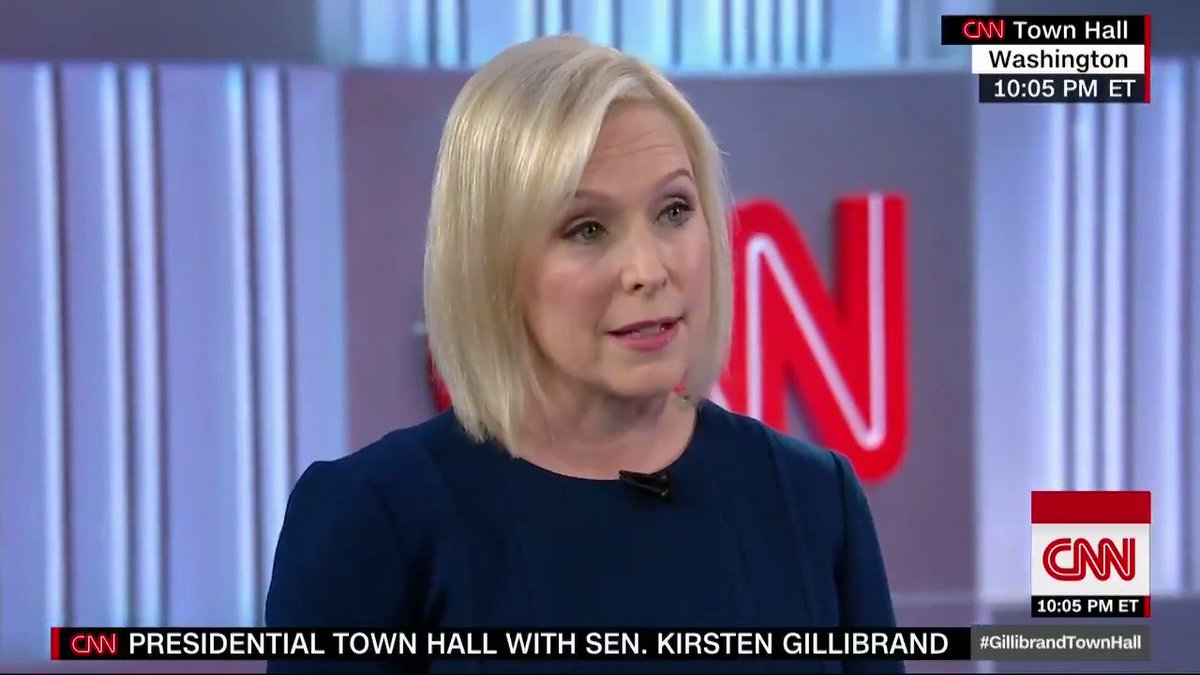 CNN's photo on #GillibrandTownHall