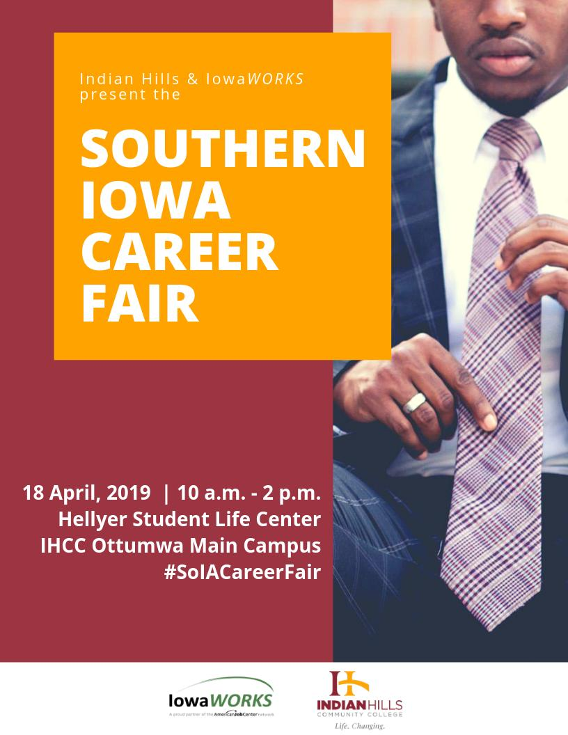 Career fair alert: @ClowValve will be at the @indianhills and @IowaWORKS Southern Iowa Career Fair on April 18 from 10 a.m.–2 p.m. Stop by the Hellyer Student Life Center to learn about Clow Valve, the leading manufacturer of fire hydrants and valves. #SoIACareerFair <br>http://pic.twitter.com/DtpF8ZWaKX