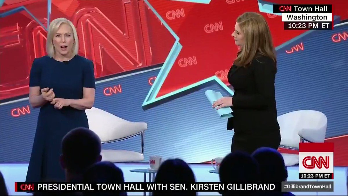 CNN Politics's photo on #GillibrandTownHall