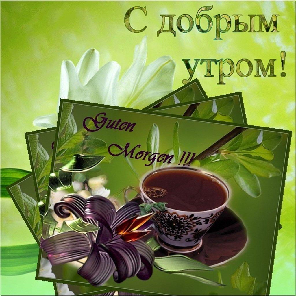 Флеш открытка доброе утро мужчине
