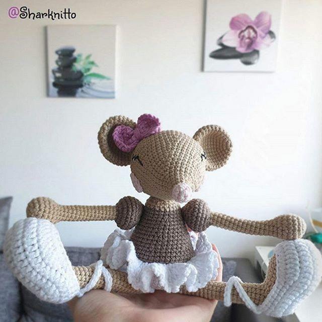 PATTERN - Ballerina-Mouse - crochet pattern, amigurumi pattern ... | 640x640
