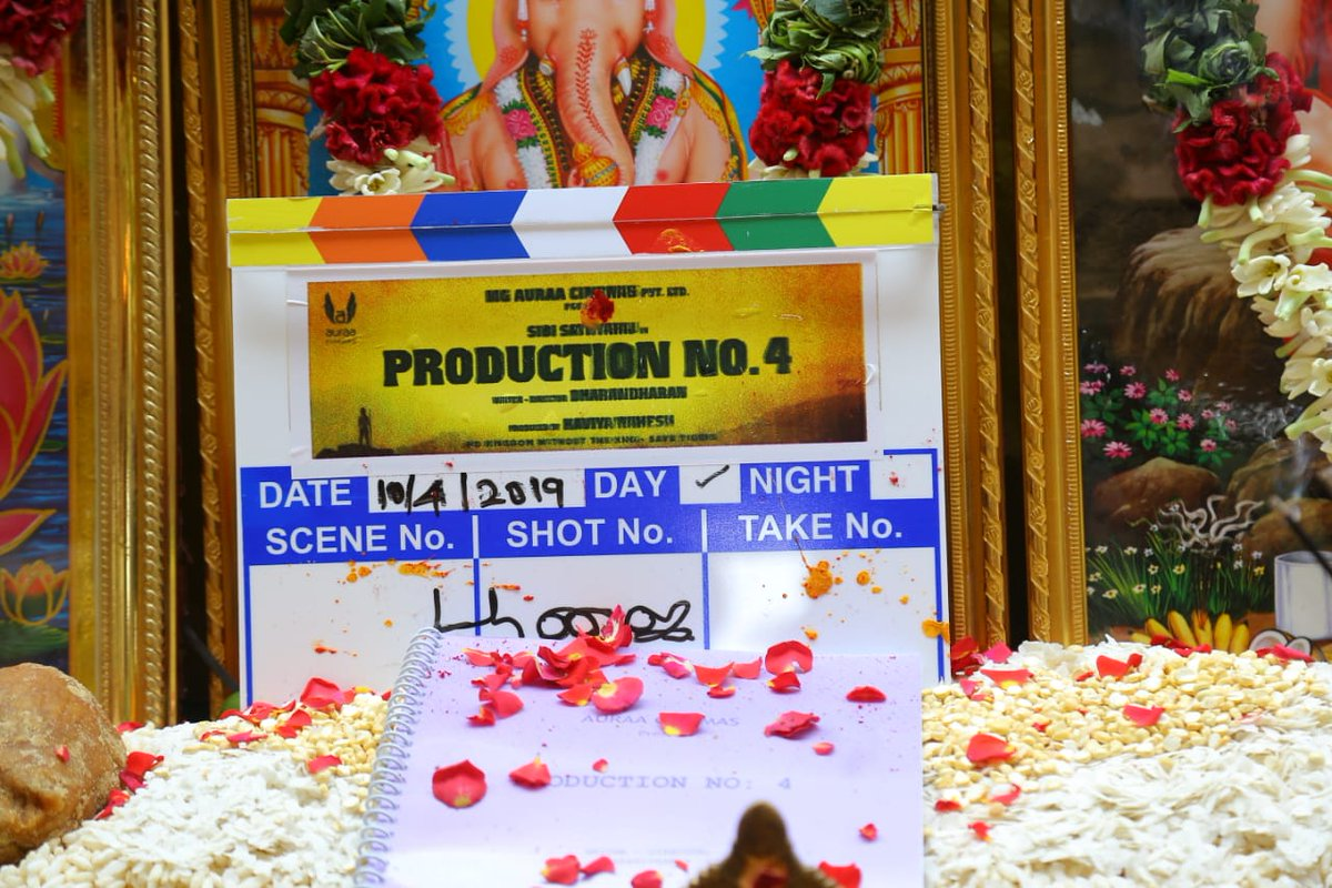 With The Blessings Of God Our Next Project #ProductionNo4 Starring @Sibi_Sathyaraj directed by @Dharanidharanpv Pooja happened today.   @donechannel1 @vanquishMedia__