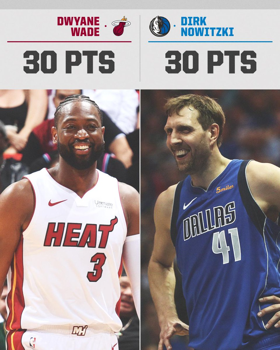 LEGENDARY 🙌  @DwyaneWade and @swish41 in their final home games.