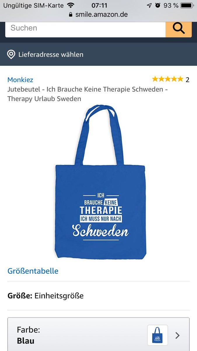 Therapy Sweden Schweden Therapie Jutebeutel