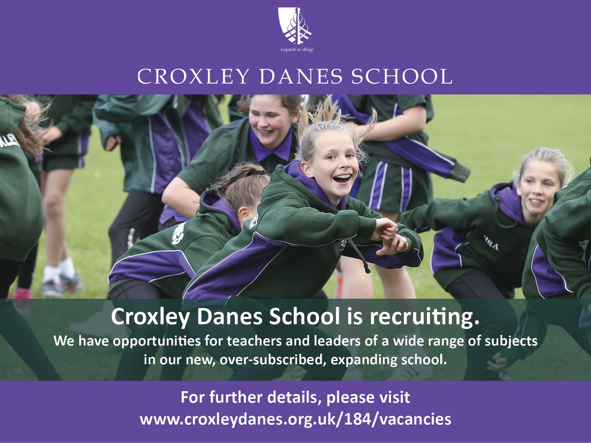 Opportunities in a range of subjects (Maths, PE, MFL, Tech, Science) at our new, oversubscribed school. Come and work with fantastic students and be part of a great staff team. Details: https://t.co/zMcW8tJFjo https://t.co/bf3nlGT09J