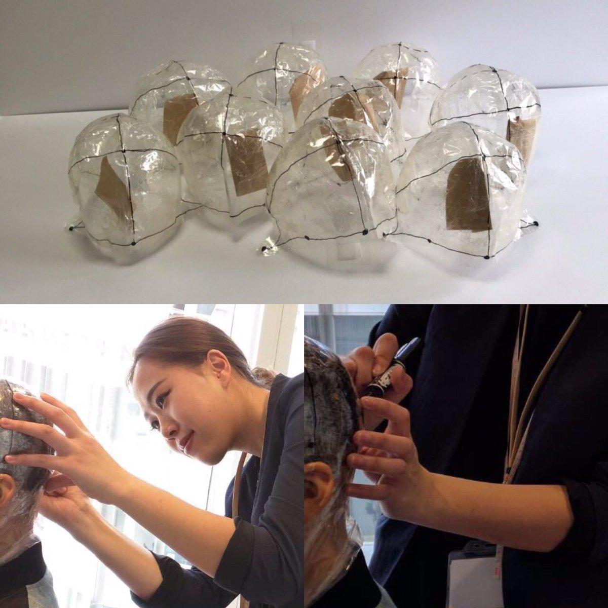 【活動報告】 3月31日、東京都で4〜18歳(抗がん剤による脱毛・脱毛・乏毛)の男女9名に、ウィッグを作る為の頭の型取り「メジャーメント」を行いました。この後、ヘアドネーションによってお寄せ頂いた毛髪を使用した、JIS規格の医療ウィッグの製作が始まります?#ヘアドネーション #医療用ウィッグ