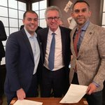 Pleased to be with @naszub and Ahmed Shabana in #SF at the signature of their agreement bringing @gvsum to #Luxembourg in 2019. @DigiLuxembourg @MinFinLux #zstyle #fintech @The_LHoFT