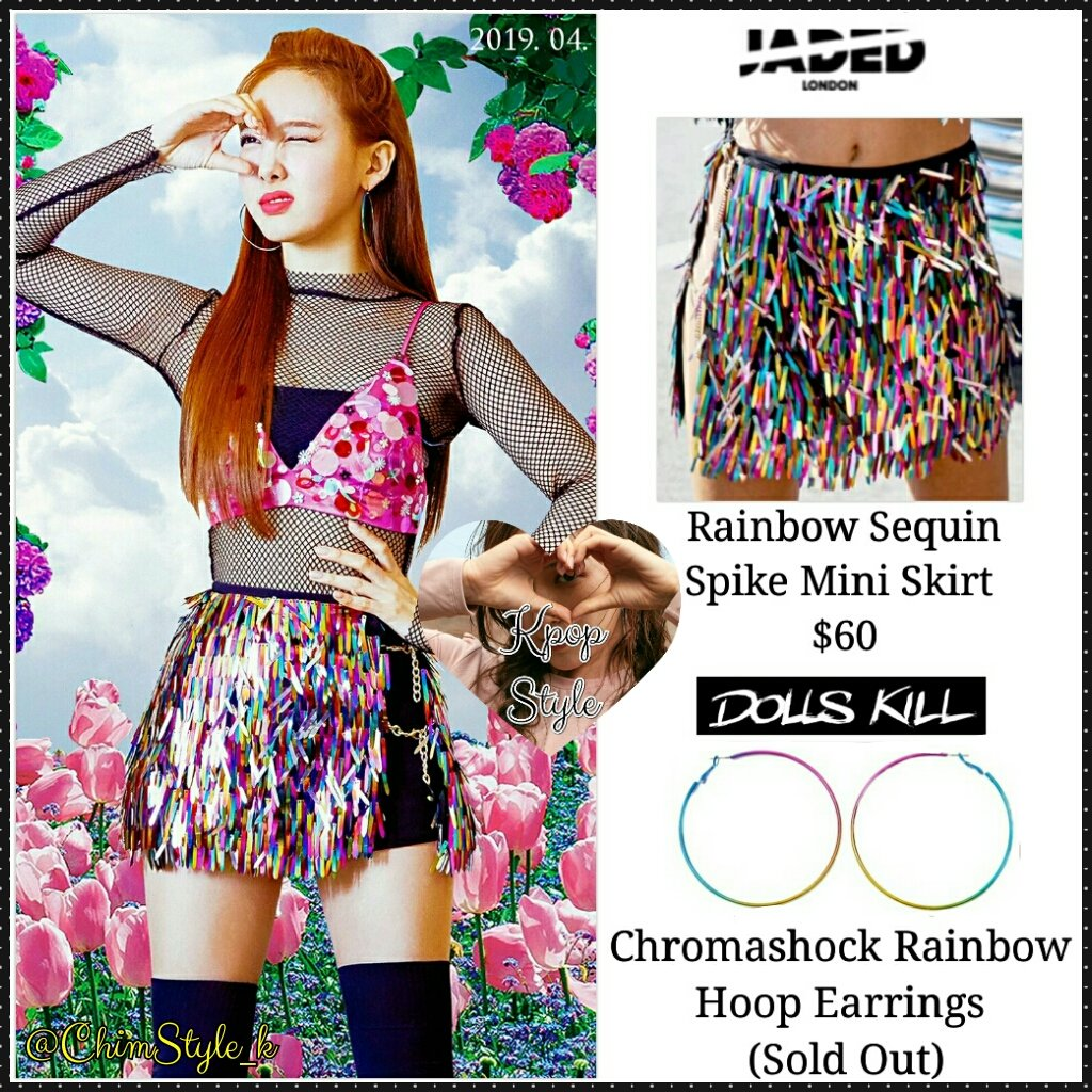 3ed0196bc ... (TITLE) 2019.04.22 6PM Skirt: JADED LONDON - Rainbow Sequin Spike Mini  Skirt ($60) Earrings: DOLLS KILL - Chromashock Rainbow Hoop Earrings (Sold  Out) ...