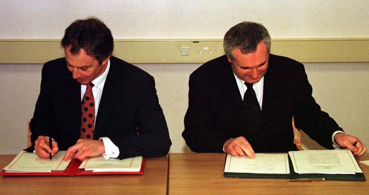 """This day 21 years ago – 10 April 1998 – the Good Friday Agreement was signed by the British and Irish governments.  Described as a """"truly historic opportunity,"""" it pledged """"close co-operation between their countries as friendly neighbours and as partners in the European Union."""""""