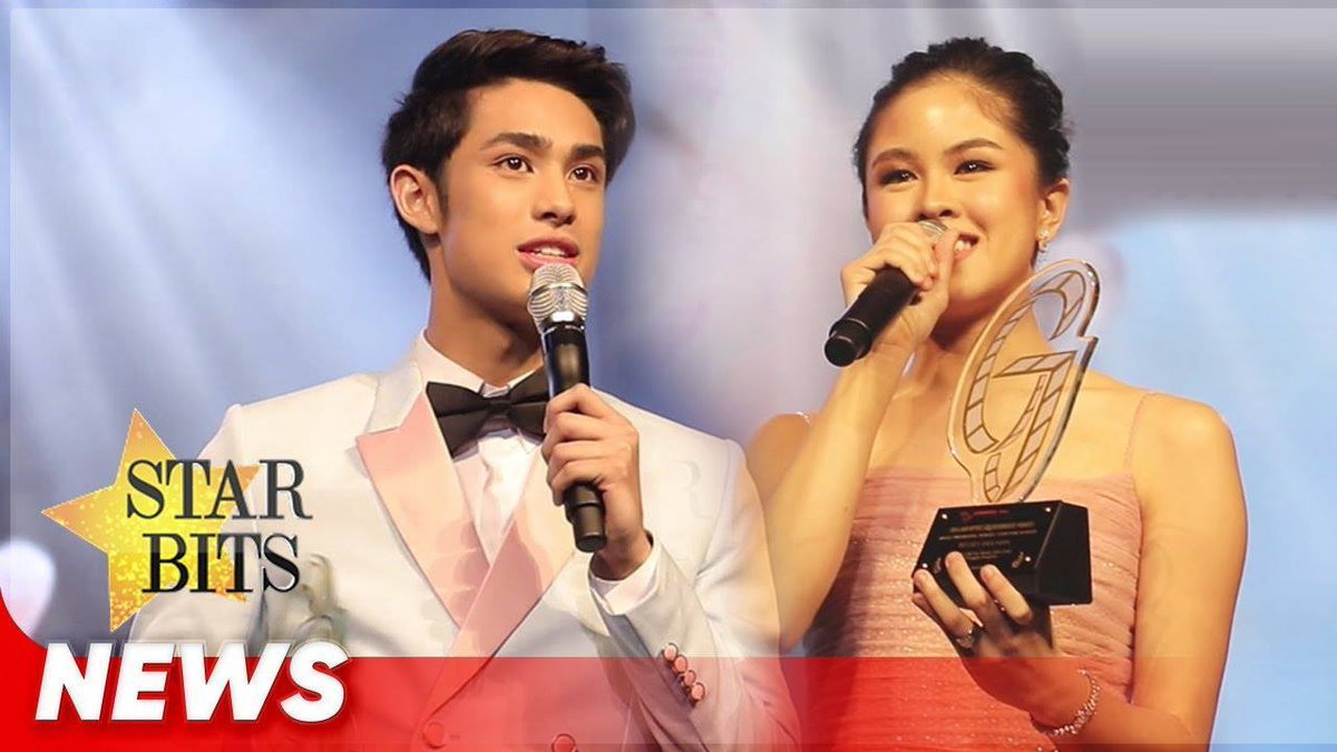 Kisses Delavin and Donny Pangilinan received their award for being the Most Promising Male and Female Star for Movies!  @donnypangilinan @KissesDelavin