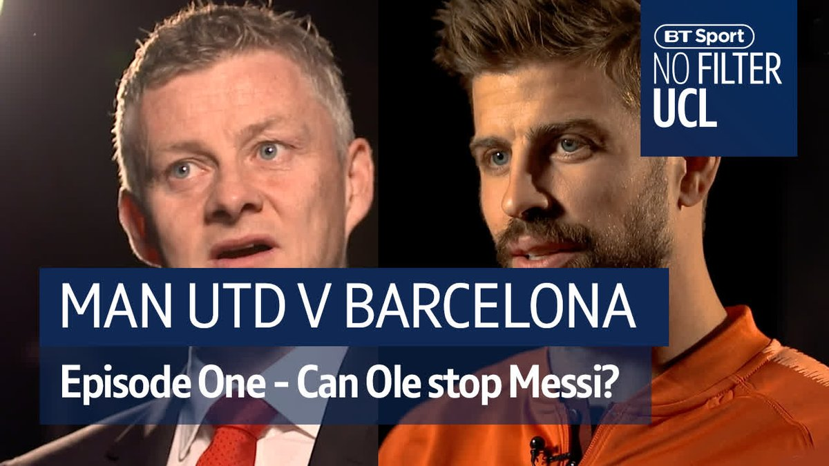 """""""We've had some nice little battles over the years..""""  That's an understatement. 👊  Man Utd have another mountain to climb as they welcome Messi to Old Trafford. Can Ole take them to the summit?  #NoFilterUCL"""