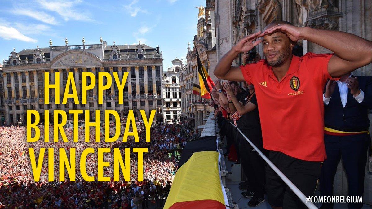🎉🎈 33 🎈🎉   Happy B-Day @VincentKompany! 😉👏   #COMEONBELGIUM 🇧🇪