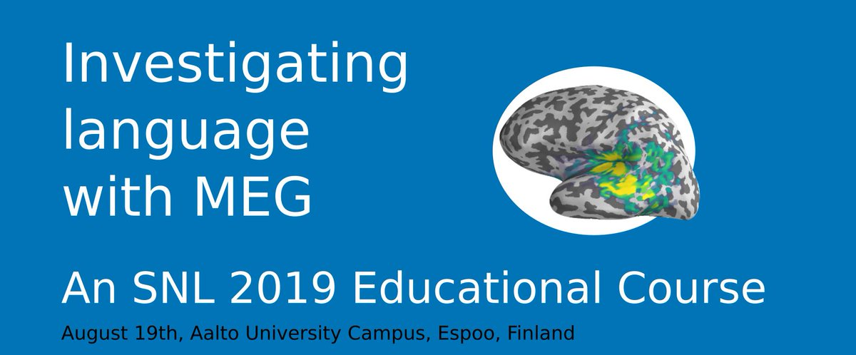 Have you ever wondered how much you could possibly learn about MEG in just one day? Find out at: Investigating language with MEG: An SNL2019 Educational Course, on August 19 @AaltoUniversity. For registration, go to: https://www.aalto.fi/events/investigating-language-with-meg…  @SNLmtg @AaltoResearch @abc_aalto
