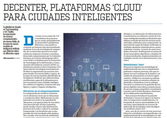 La plataforma, basada en 'Fog Computing' e #IoT, facilita la orquestación de recursos compu...