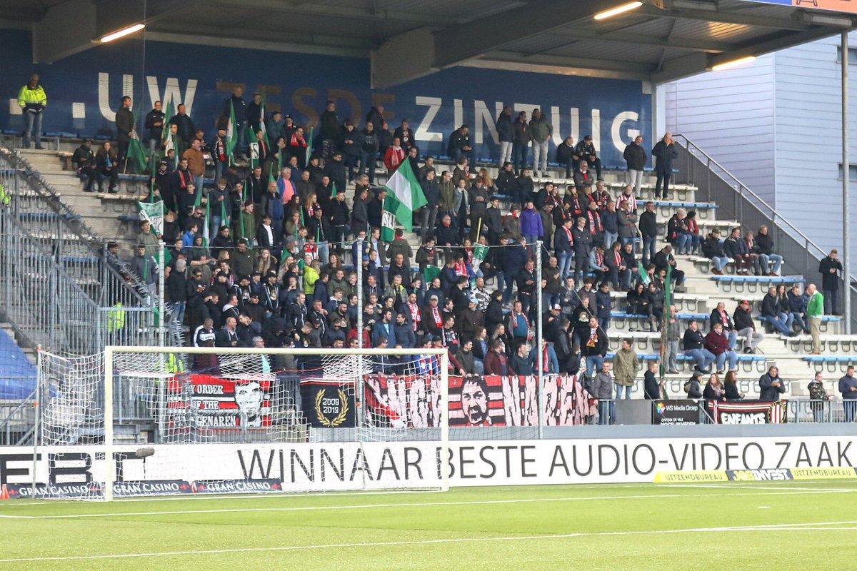 Uitsupporters KKD:  Go Ahead Eagles - Jong AZ: 9 Telstar - Cambuur: 105 Roda JC - RKC: 87 FC Den Bosch - Sparta: 266 (📸) Helmond Sport - Jong Ajax: 2 Jong FC Utrecht - Almere City: 64 TOP Oss - FC Volendam: 8 FC Twente - FC Dordrecht: 71 MVV - FC Eindhoven: 66 Jong PSV - NEC: 59