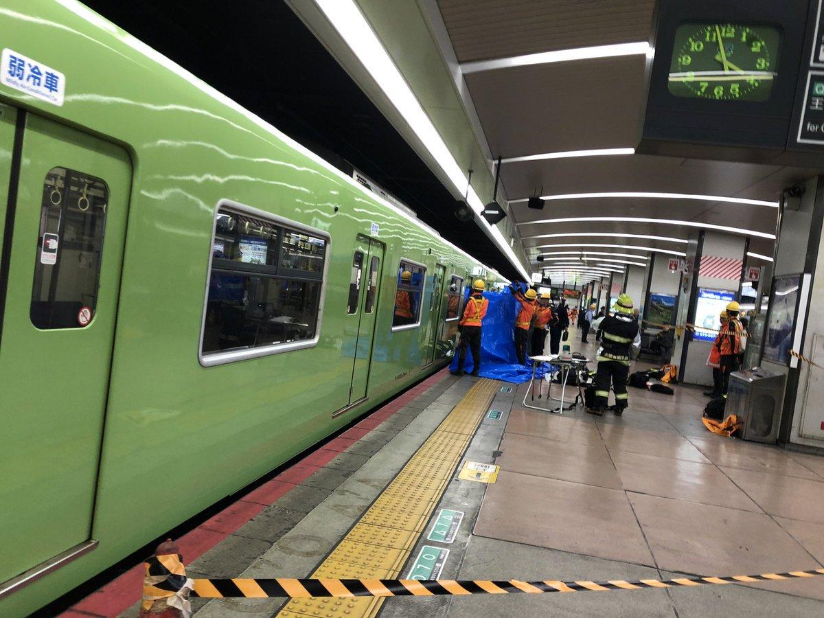 天王寺駅で人身事故が起きた現場画像