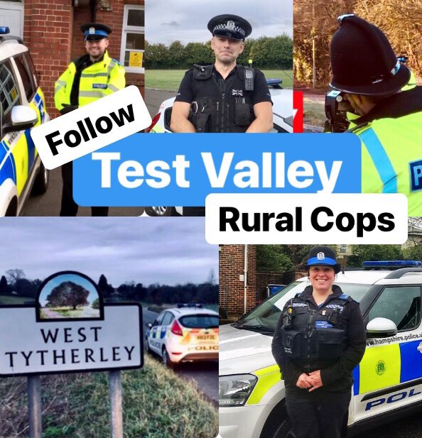Please give us a retweet to get our follower numbers up!!! We may be one of the smaller neighbourhood teams in Hampshire, but we cover a very large rural area! #RuralCops #CommunityEngagement #NeighbourhoodPolicing