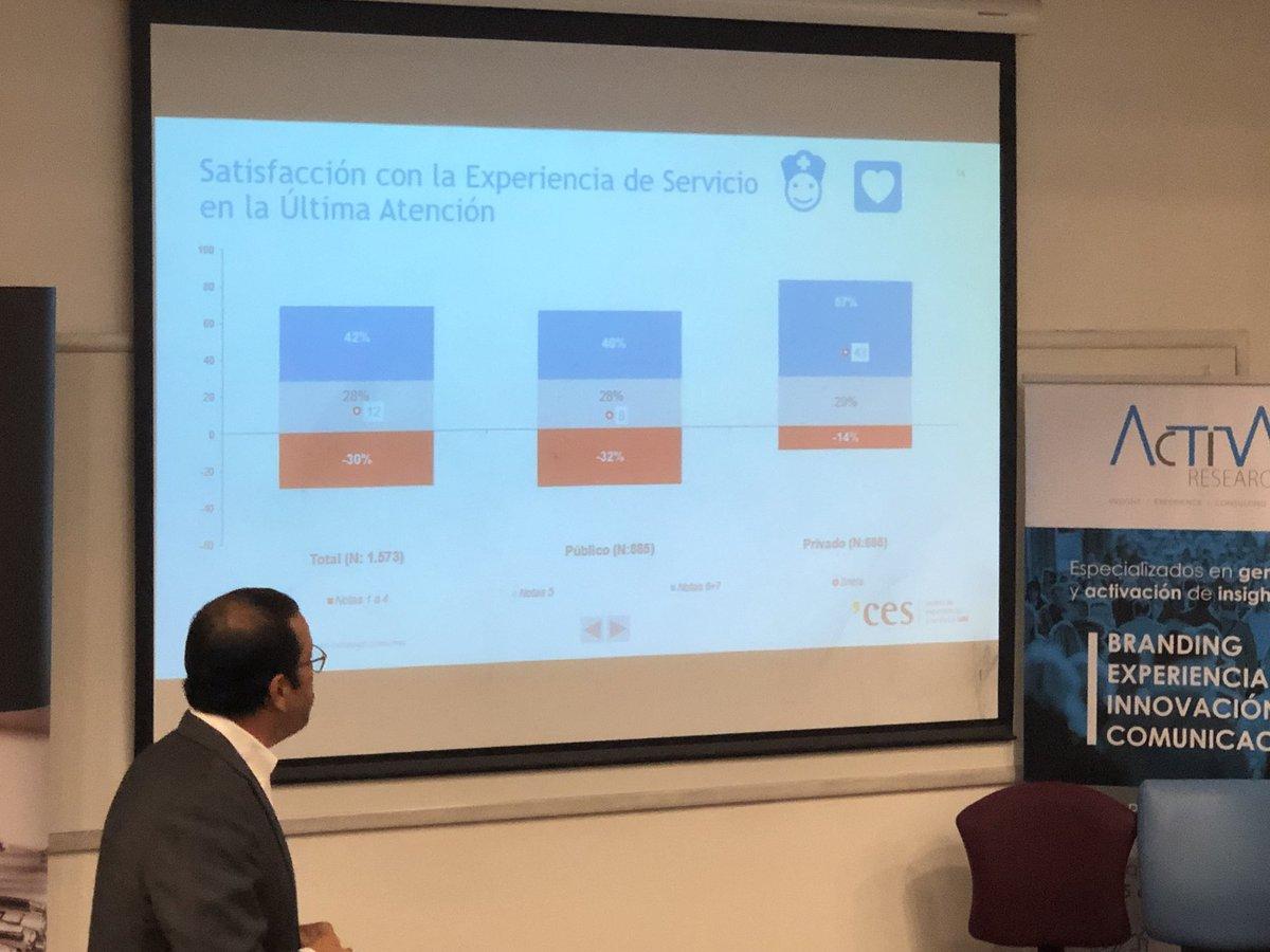Diferencias relevantes en la evaluación de la experiencia en salud entre sector privado y público. Presentación Scanner de la Salud. @ActivaResearch @ces_uai @UAI_CL  @rdelariva @ccarrenu @en_abril