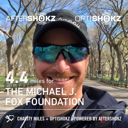 4.4 @CharityMiles for @MichaelJFoxOrg. Thx @AfterShokz & @OptiShokz. #ShokzMiles #Boston2019 charitymiles.org/optishokz