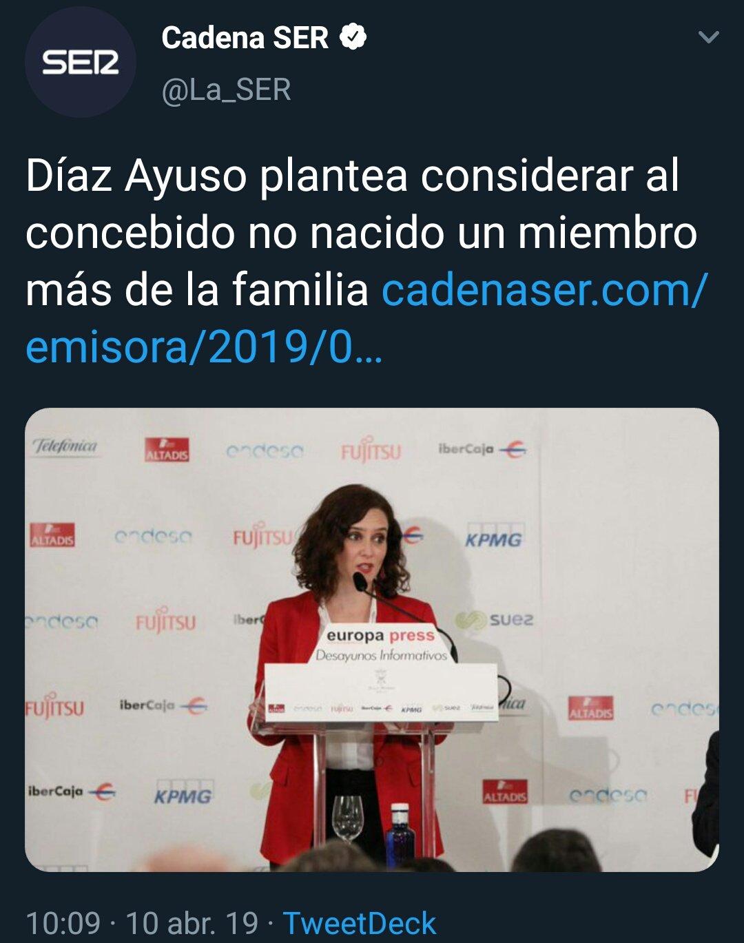 España. Díaz Ayuso defiende personalización del feto D3yBmNrXoAMjb_I