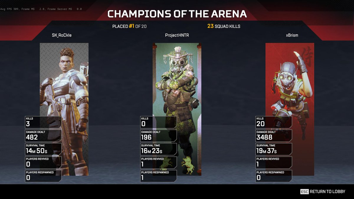 So uhhh yeah.. first game back. Octane is pretty cool 😏