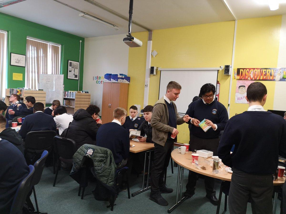 @CbsCastle 5th year students enjoying a pleasant coffee morning.  #literacyweek