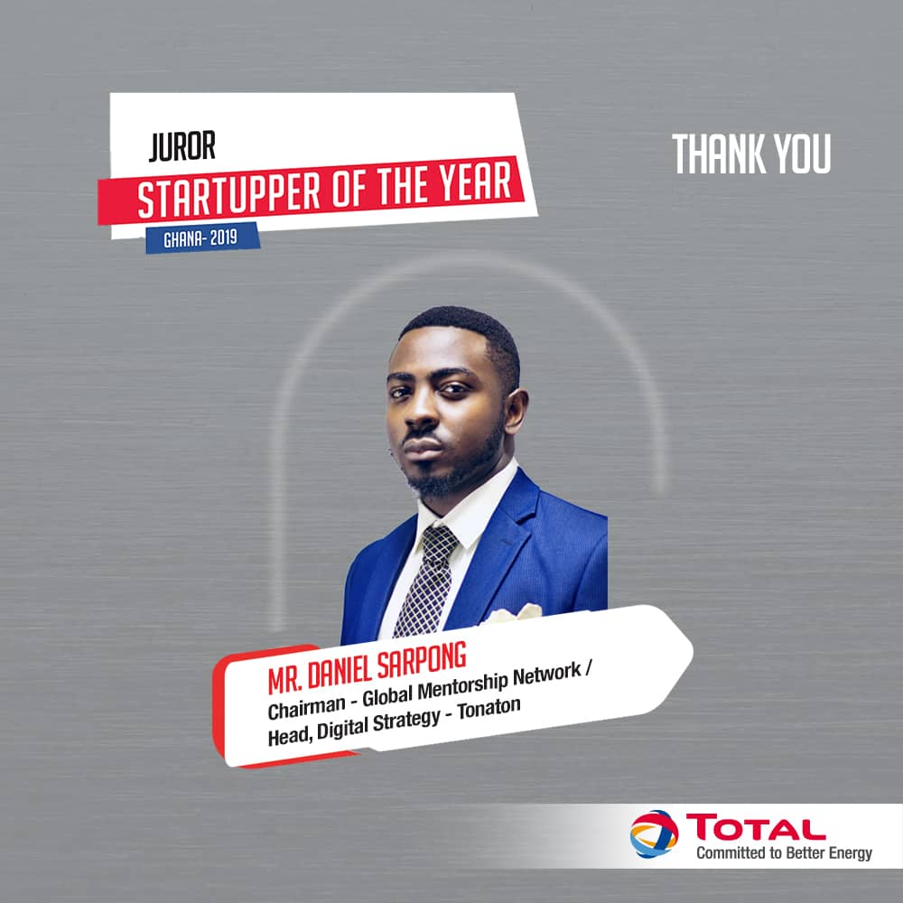 Thank you for impacting lives and sharing our vision in promoting innovation and supporting young Ghanaian entrepreneurs to make a change in the world #TotalStartupper