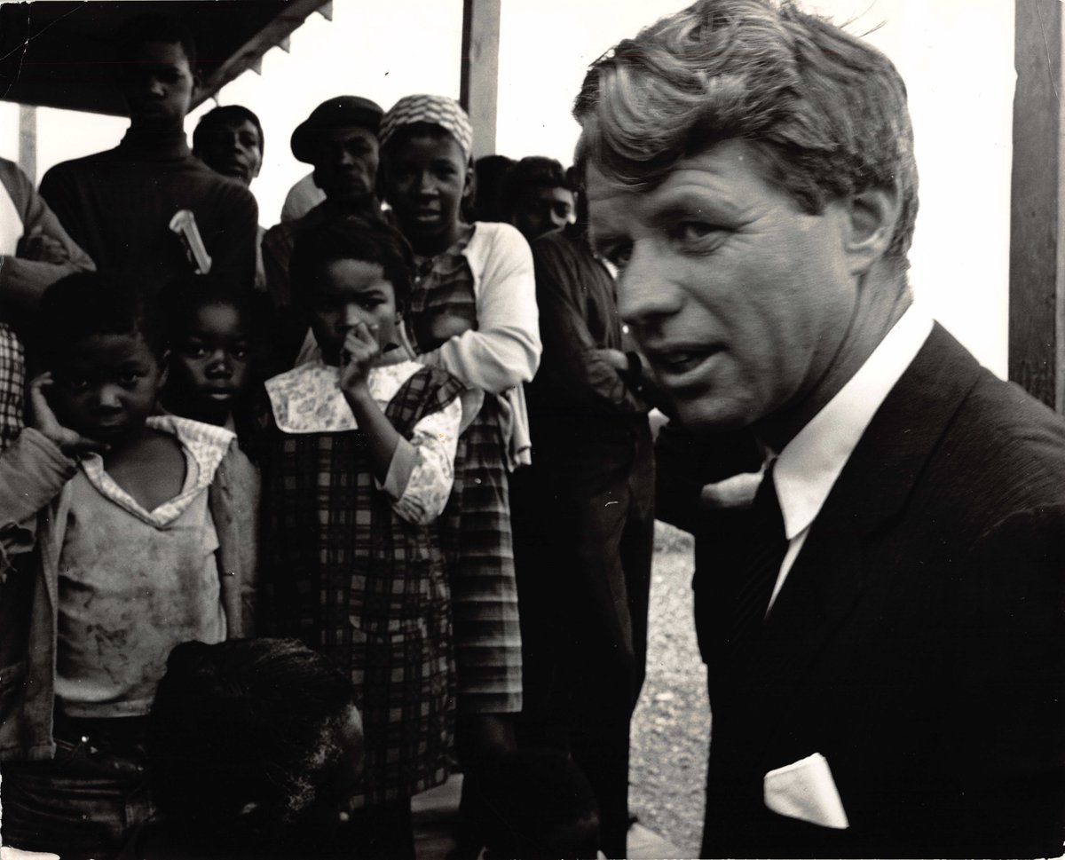 &quot;I believe that, as long as there is plenty, poverty is evil.&quot; In April 10, 1967, my father traveled to the Mississippi Delta with his trusted advisers Marian Wright &amp; Peter Edelman. The people he met during the delegation remained in his heart and mind throughout his life. <br>http://pic.twitter.com/sNuaBpvCK2