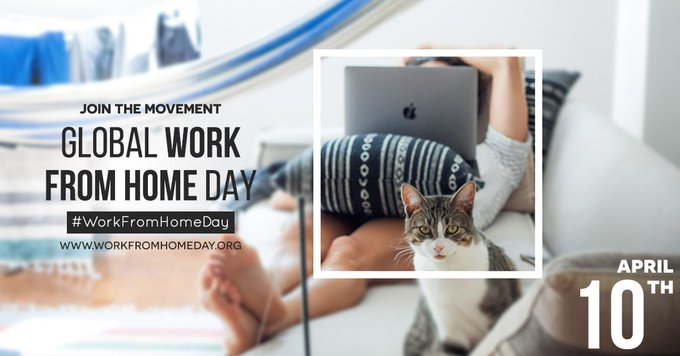 Happy #WorkFromHomeDay! Use the #WorkFromHomeDay to share your experience, get support from...