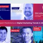 👍Expert Predictions on Digital Marketing Trends in 2019 @vocso@larrykim @grybniak@deepakchauhan_v @tjkelly @JitendraBlogger @MikeKhorev @PunithAlex and More.https://t.co/zbE75uRXe5