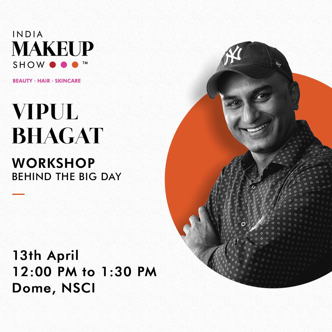 Learn how #VipulBhagat crafts the ideal bridal makeover only at India Makeup Show. Book your tickets and reserve your seats @ just Rs. 299/- on http://Insider.in today: https://bit.ly/2TgcbNv 12 PM - 1:30 PM, 13th April Dome, NSCI   #Workshop #Makeup #Bridal #BridalMakeuppic.twitter.com/QA060IFeK8