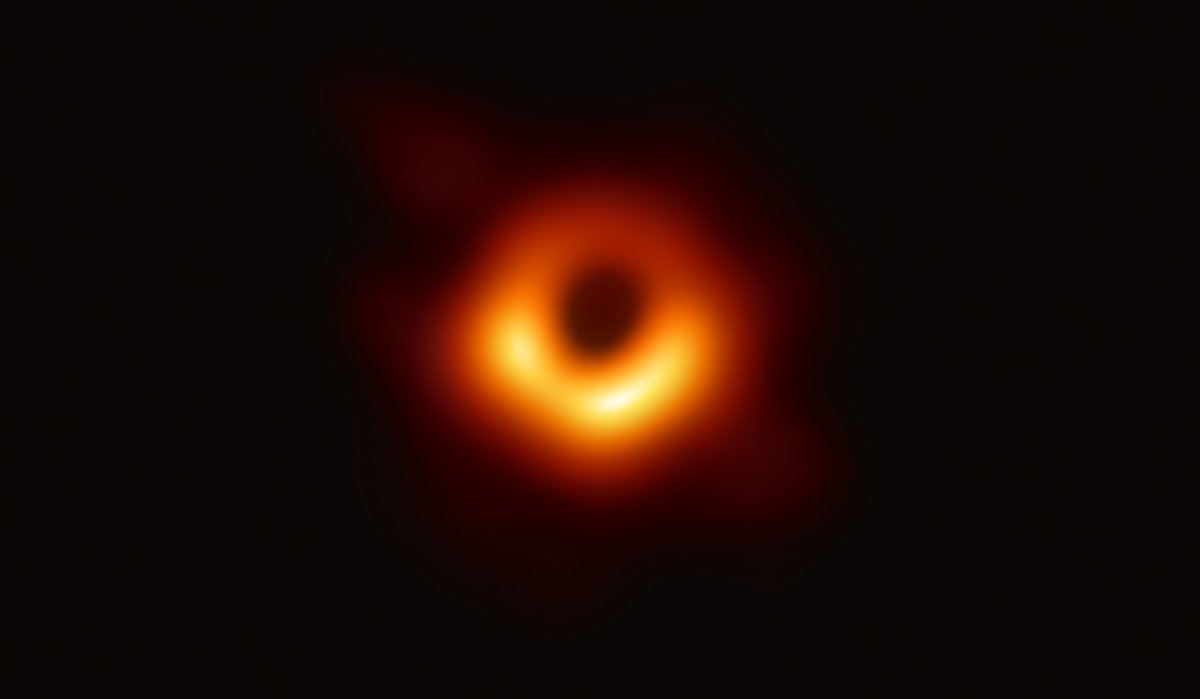 The first ever image of a black hole. Taken by Event Horizon Telescope. #EUFunded. #RealBlackHole.