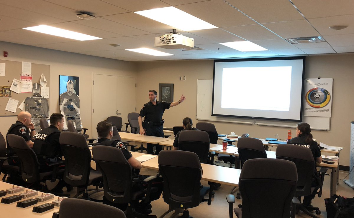 Our new recruits getting 2 days of #training from our Traffic Unit on #trafficlaws, #accidents, impaired driving & directing traffic. #StopImpairedDriving #PoliceTraining #PutThePhoneDown
