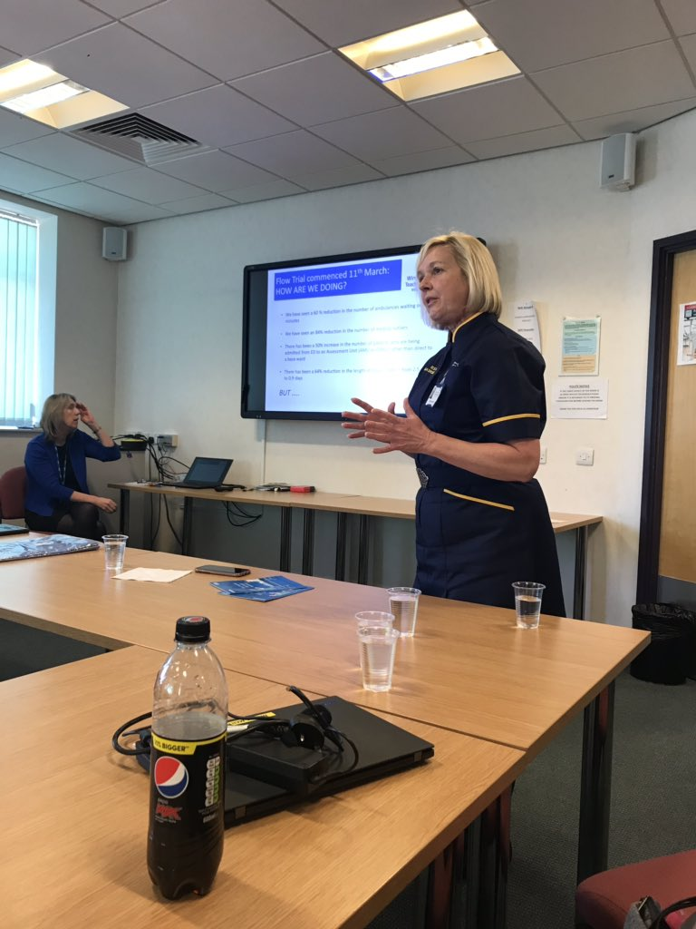 Our Chief nurse @WestrayGaynor  holding her Big conversation with our trust staff nurses. #trustpriorities  #patientflow  #listeningtoourteams  great engagement and lots of useful feedback