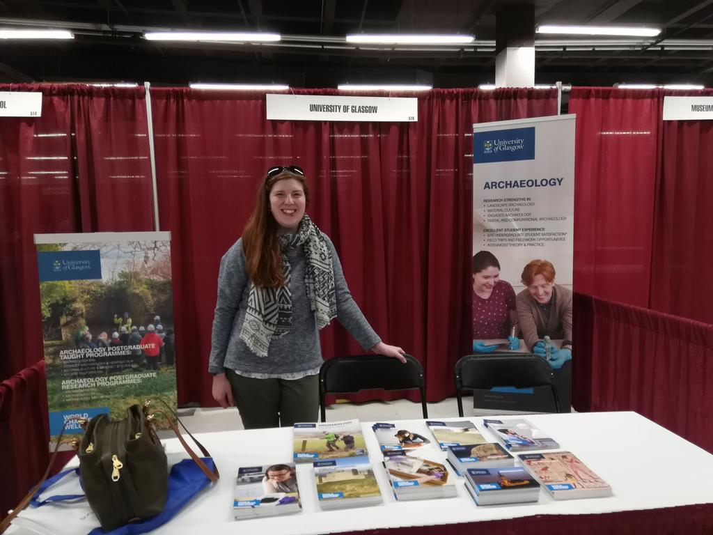 All set up at #SAA2019! See you soon at booth 516... @UofGArchaeo