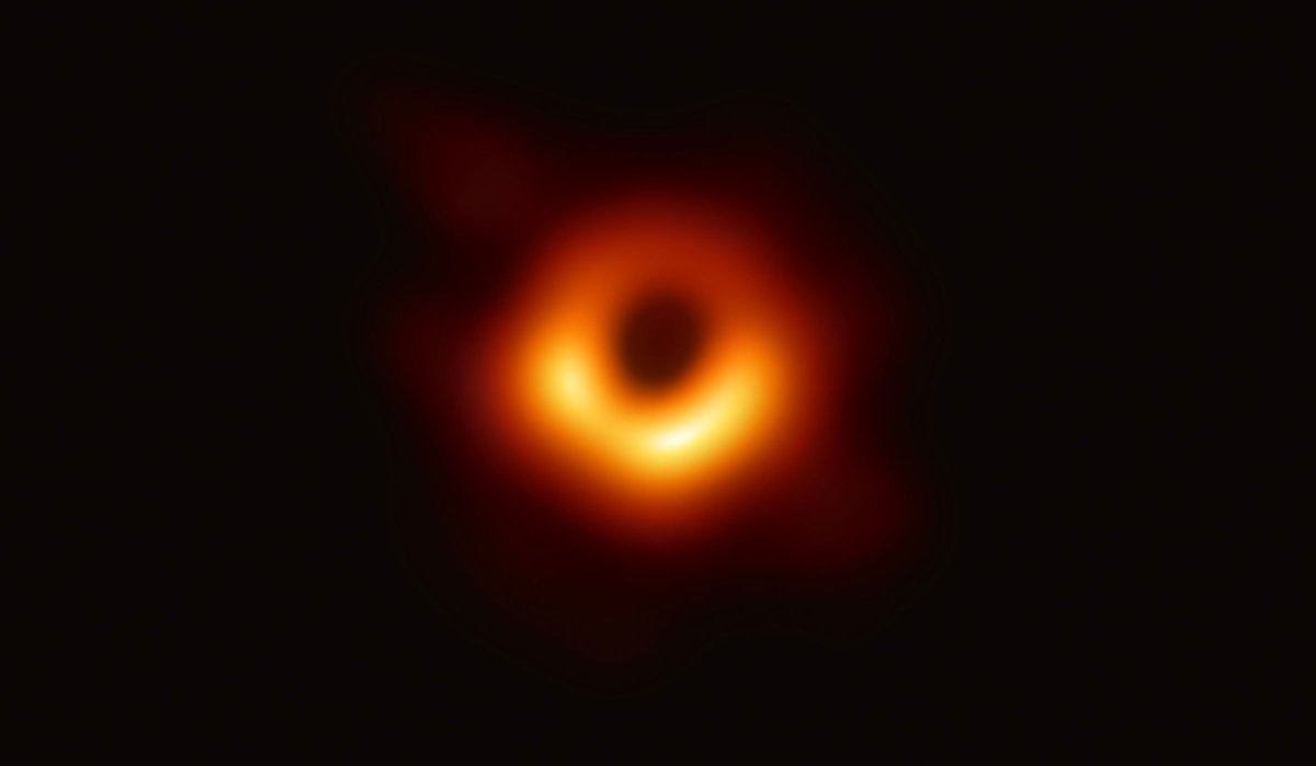 Here it is. Scientists have captured the first ever image of a black hole. The image shows luminous gas swirling around a supermassive black hole at the center of M87, a galaxy 54 million light years away. #EHTBlackHole  https://t.co/SS3pIhPoT2 https://t.co/nzozuLpHMz