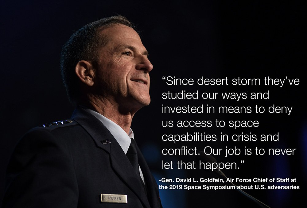 'Our job is to never let that happen.' #35SS #SpaceSymposium @GenDaveGoldfein @usairforce