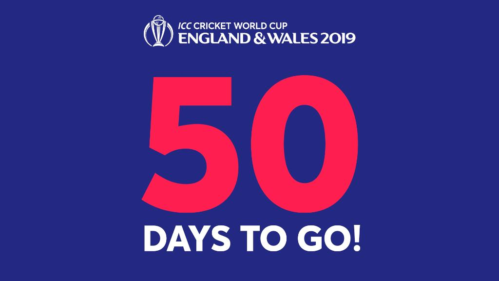5⃣0⃣ DAYS UNTIL #CWC19!   Hands up if you're excited! 🙋♂️🙋