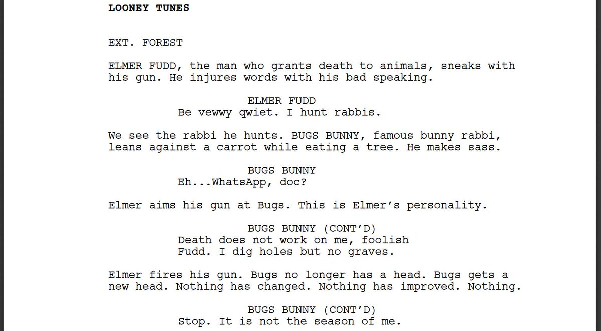 I forced a bot to watch over 1,000 hours of Looney Tunes and then asked it to write a Looney Tunes episode of its own. Here is the first page.