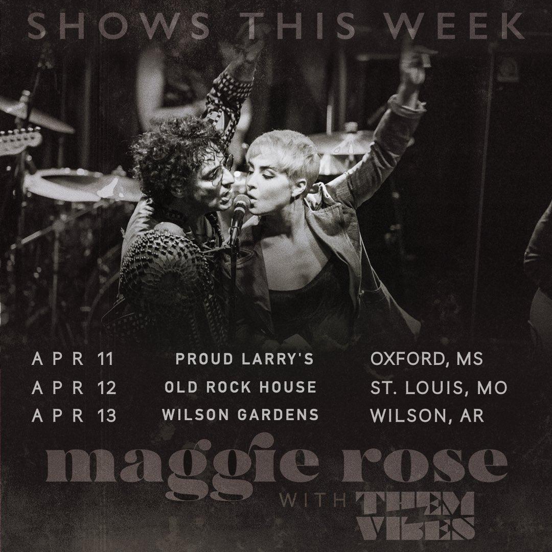 This week!  4/11 Oxford, MS - @proudlarrys  4/12 St. Louis, MO @oldrockhousestl  4/13 Wilson, AR - @GrowWilson  w/ @them_vibes  #RightOn #ChangeTheWholeThing Tour <br>http://pic.twitter.com/gelqYreM5a