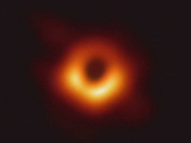 It's not a hot doughnut or the Eye of Sauron.  This is the first image ever of a black hole.  Supermassive congratulations to the whole @ehtelescope team. What can be accomplished by people and telescopes around the world working together is truly awesome. https://go.nasa.gov/2uUXH7r