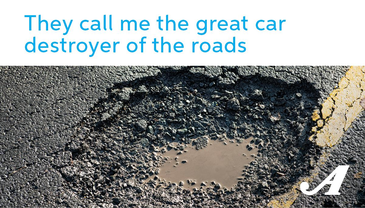 How To Avoid a #Pothole: Step 1: Get out of the 🚘 Step 2: Go back inside Step 3: Call it a day
