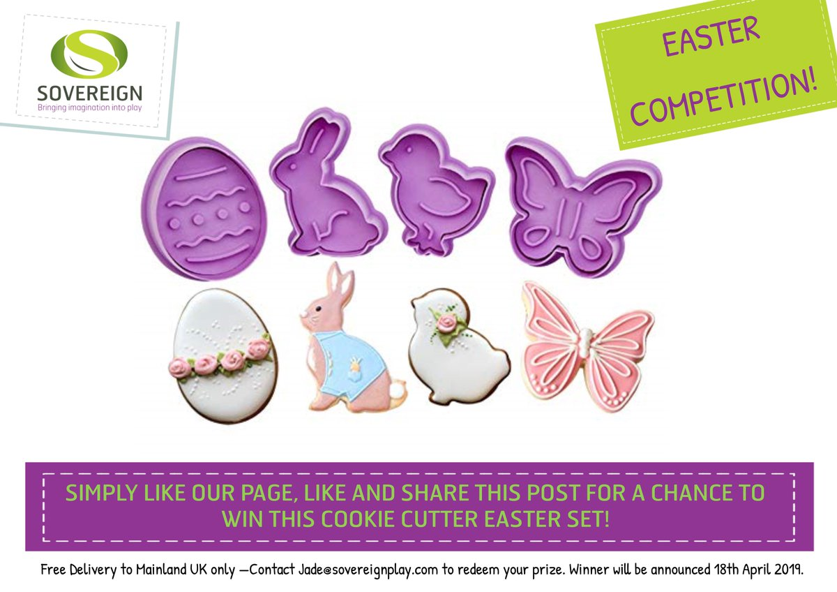RT @Sovereign_Play: EASTER COMPETITION TIME! Like our page, share this post and like the post for a chance to win this super cute Easter Cookie Cutter Set! #easteregg #competition #inittowinit #freebie #giveaway #comp #retweettowin #sharetowin<br>http://pic.twitter.com/uxBFir0m4x