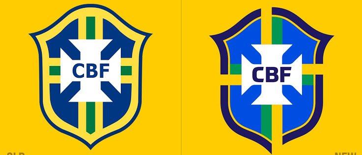 معاذ On Twitter شعار منتخب البرازيل الجديد يمين الصورة